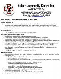 Job Description - Evening-Weekend Supervisor - PUBLIC POSTINGpg1